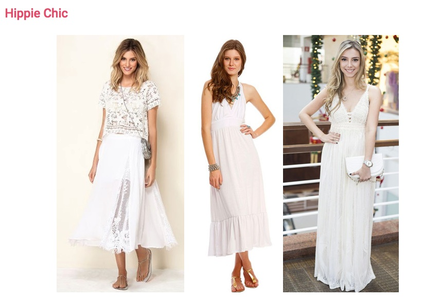 Se prefere mais discrição no look branco, aposte naqueles com trabalho artesanal, como macramê, tricô, crochê ou bordados.